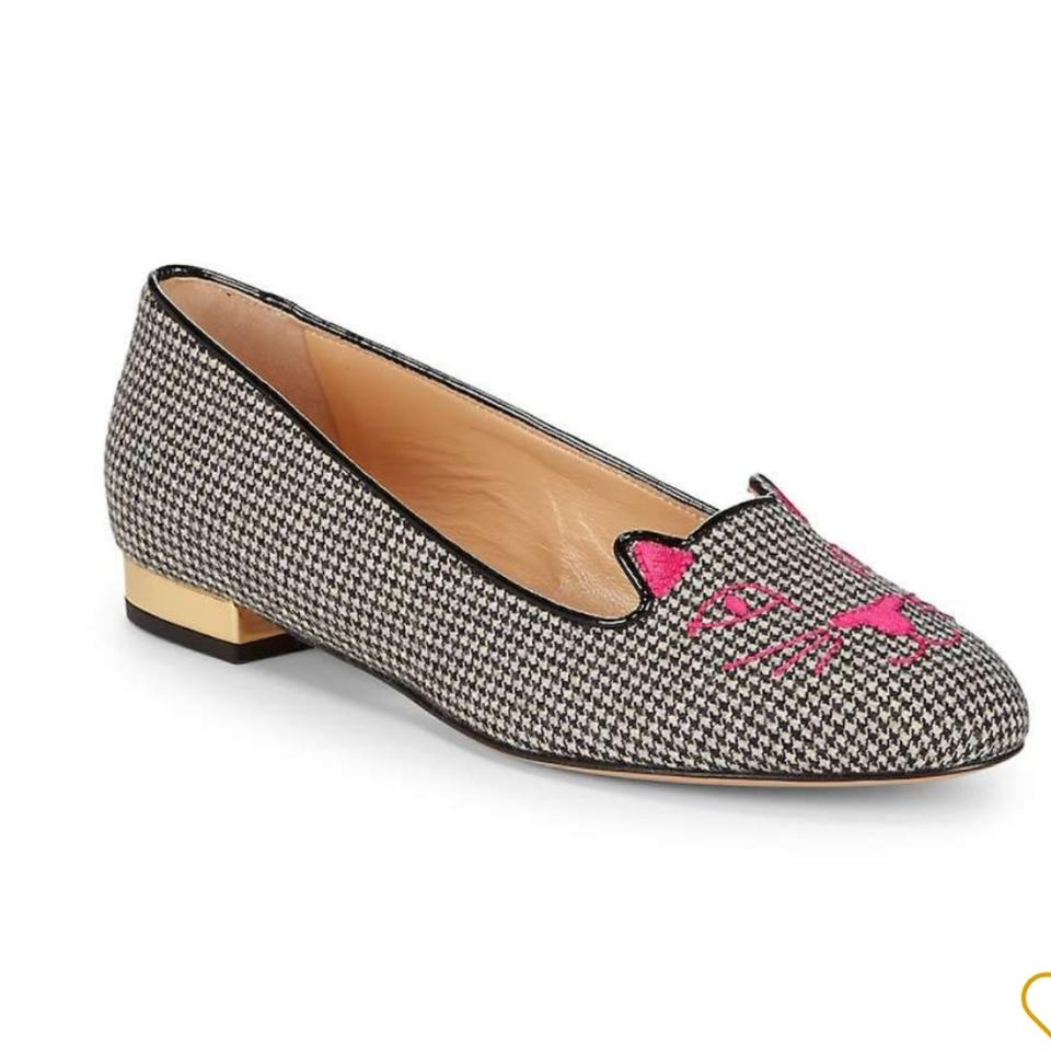 Gold White Pink Charlotte Kitty Olympia Flats Black wEIwqAa