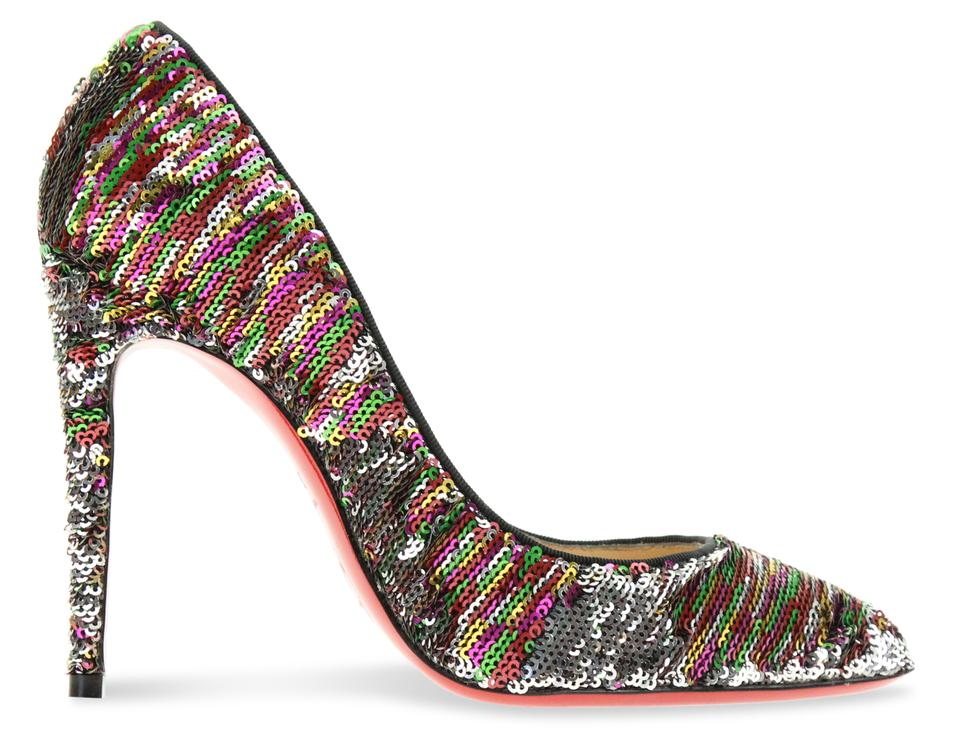 wholesale online usa cheap sale wide varieties Christian Louboutin Silver And Multicolor Reversible Sequin Pigalle Follies  100mm Pumps Size EU 36 (Approx. US 6) Regular (M, B) 77% off retail