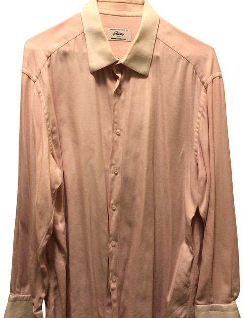 Item - Pink with White Cuffs For Neiman Marcus Button-down Top Size 12 (L)