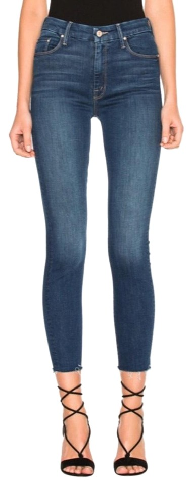 Faster In Fray Jeans Ankle Skinny Looker Mother Waisted High dnxZUwTdqp