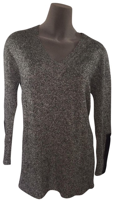 Item - Euc C By Ply Cashmere Women Faux Leather Gray Sweater