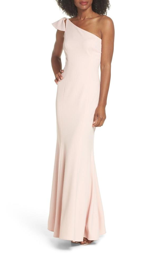 Vince Camuto Blush One-shoulder Ruffle Gown Long Formal Dress Size 6 ...