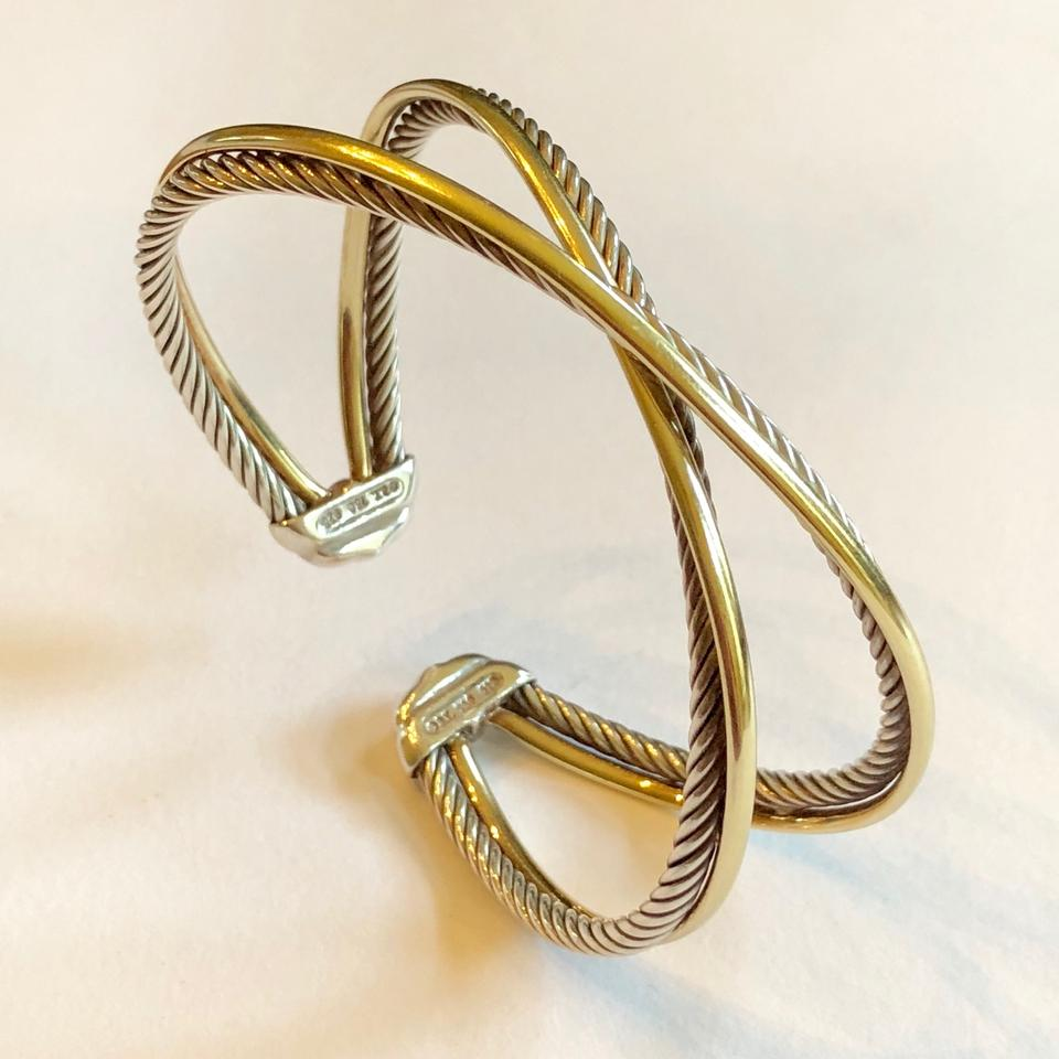 David Yurman Crossover Bracelet 18k Yellow Gold Sterling 925
