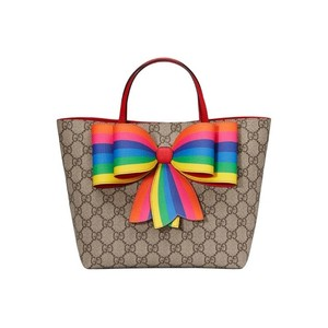 38afc3dadda1 Gucci Kids Children's Gg Supreme Rainbow Beige Canvas Tote - Tradesy