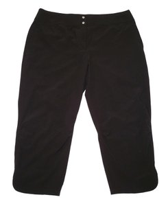 Chico's Cropped Neema Ruched Gathered Capris Black