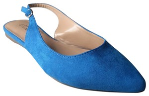 Breckelle's Pointed Toe Slingback Womens Blue Flats