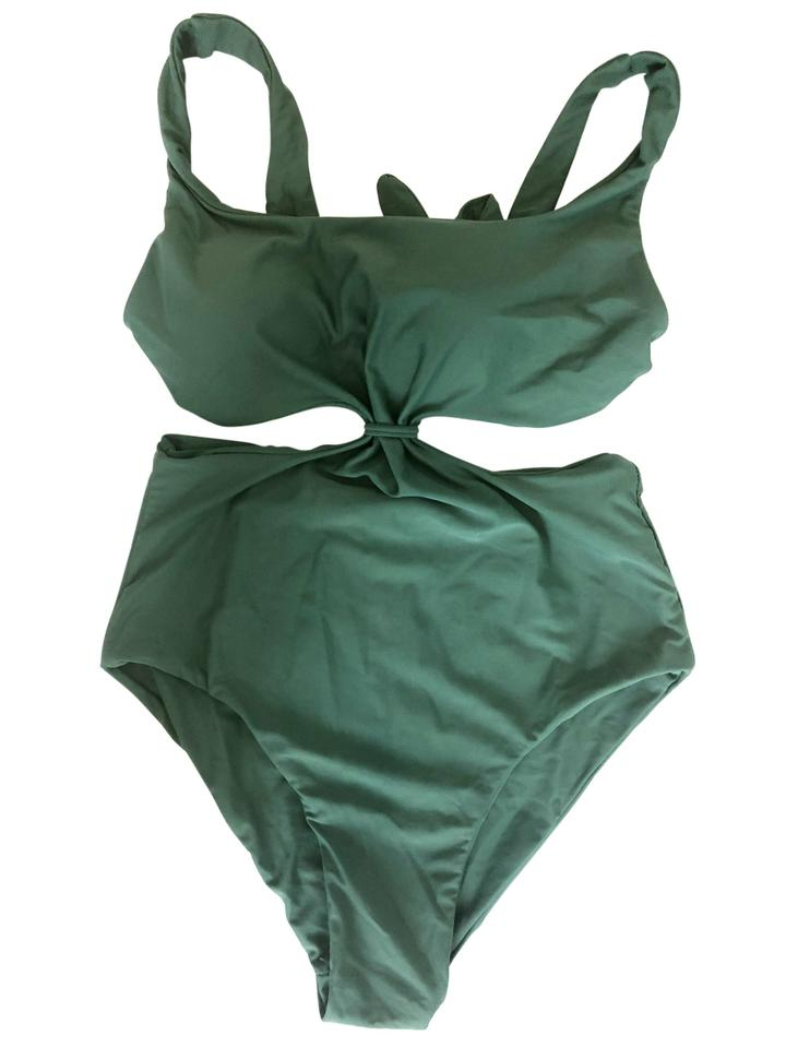 4a57451c47 Cupshe Green Monokini One-piece Bathing Suit Size 4 (S) - Tradesy