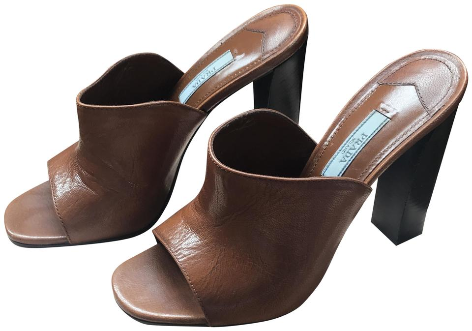 women Prada Brown Madres quantity Fume Mules/Slides Quality and quantity Madres guaranteed ead642