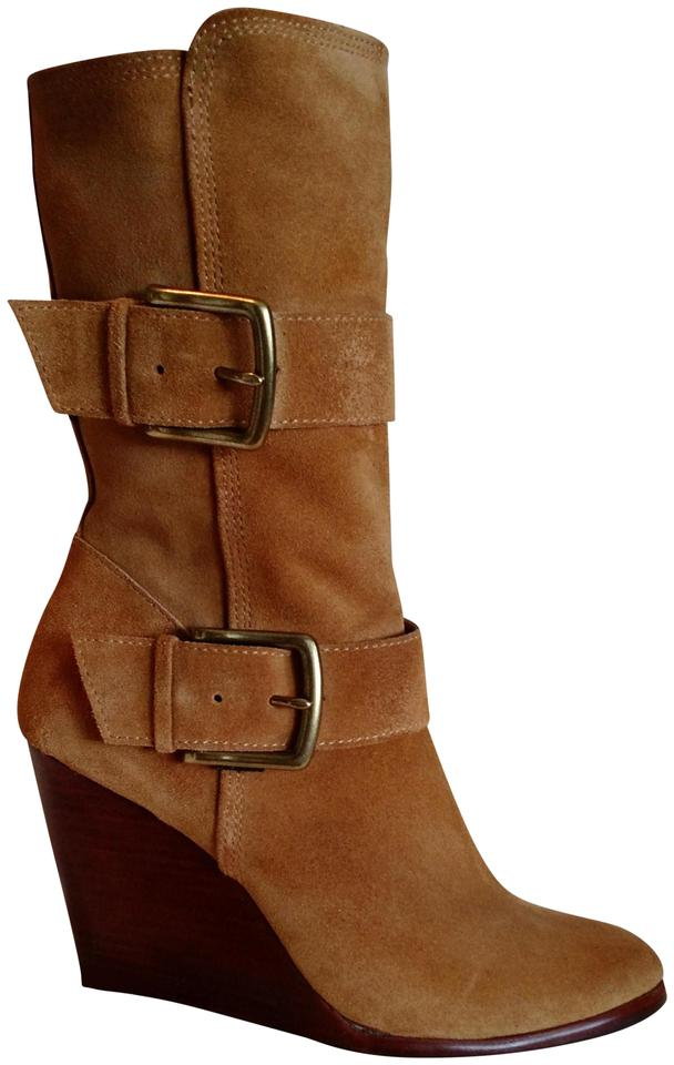 48209347f52 Frye Wheat Cece Buckle Wedge Boots Booties. Size  US 9 Regular (M ...