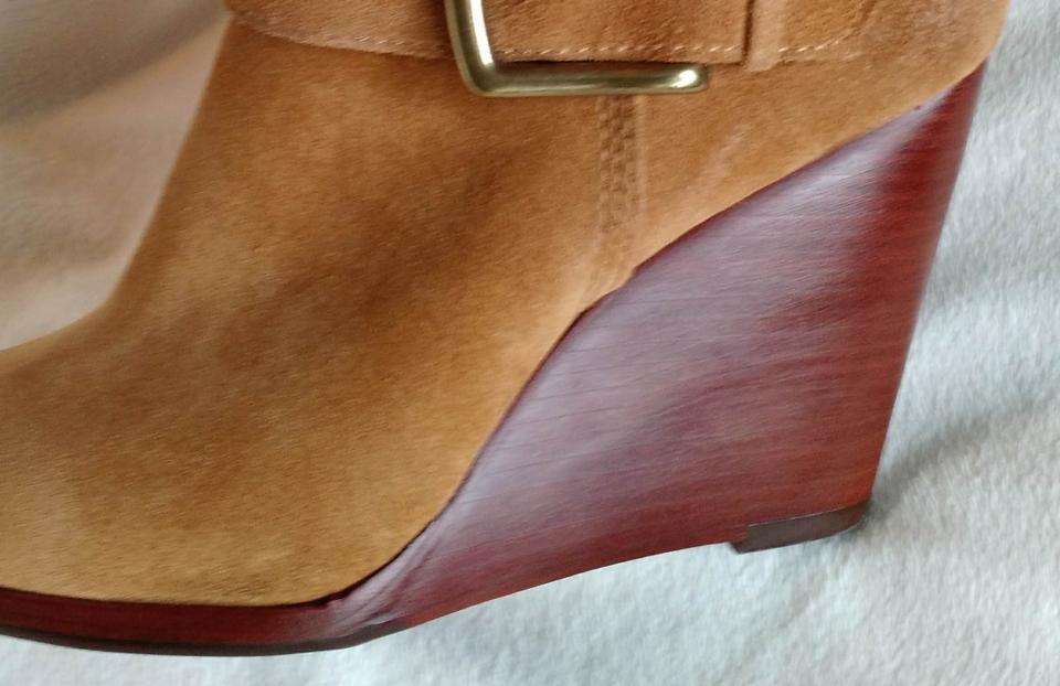 42233a5146b Frye Suede Tan Wedge Buckles Honey Wheat Boots Image 9. 12345678910