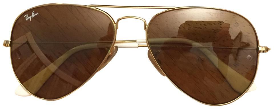 5b555b88a3d Ray-Ban Gold Rim with Light Gold Lenses Aviator Large Metal Rb3025 ...