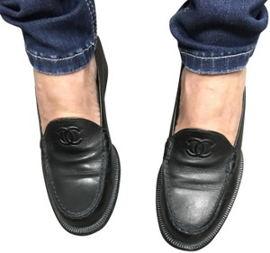 Chanel Loafers Black Flats