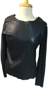 Majestic Filatures Leather Neiman Marcus Barneys Current Sweater