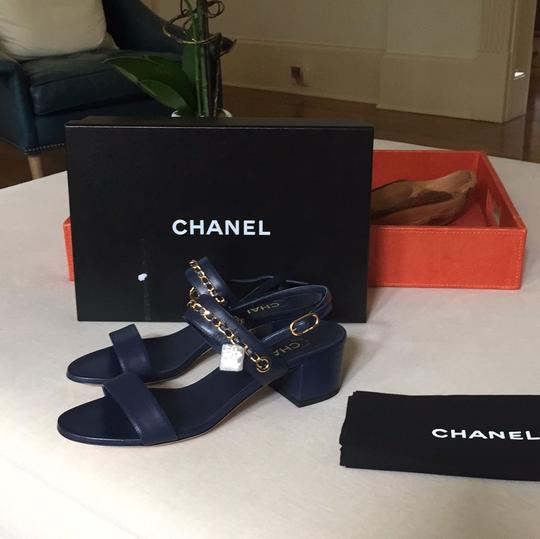 Chanel navy Sandals Image 1