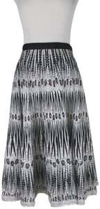 By Malene Birger African Wax Dye Tribal Print Danish Designer Circle Cotton Skirt Black & White