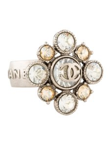 Chanel CC Logo Multi-Colored Crystal Maltese Cross Baroque Diamond Cut Square