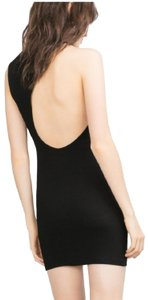 Zara Cut-out Low Crepe Mini Little Dress