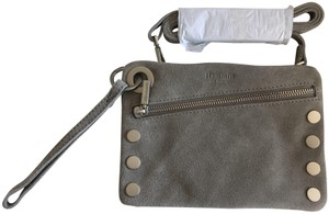 Hammitt Pewter with Silver Hardware Clutch