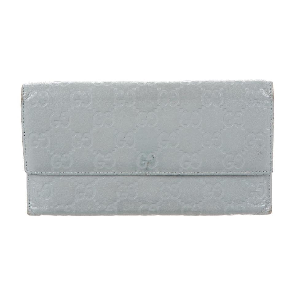 658dd3dc47ba Gucci Grey Gg Signature Style Box Continental with Included Wallet ...