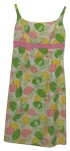 Lilly Pulitzer short dress green, yellow, pink, white on Tradesy