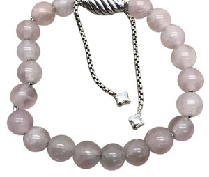 "David Yurman David Yurman pink onyx spiritual beads 5.8""-9.8"" adjustable Sterling Comes with original pouch Gorgeous!!!"