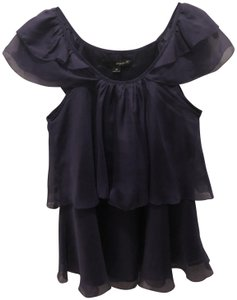 Aryn K Flutter Cap Sleeve Fun Sleeves Top Purple
