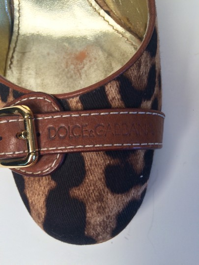 Dolce&Gabbana Canvas Brown/Black Pumps Image 2