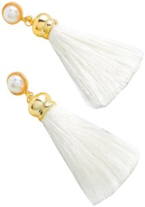 Fashion Jewelry faux pearl top tassel earring