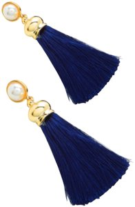 Fashion Jewelry tassel drop earring with faux pearl