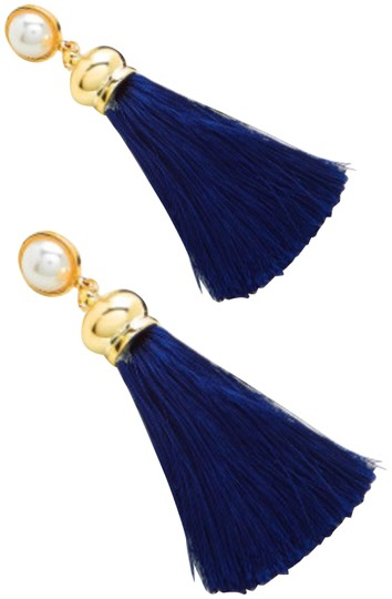 Fashion Jewelry tassel drop earring with faux pearl Image 0