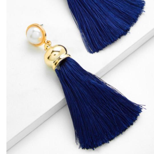 Fashion Jewelry tassel drop earring with faux pearl Image 2