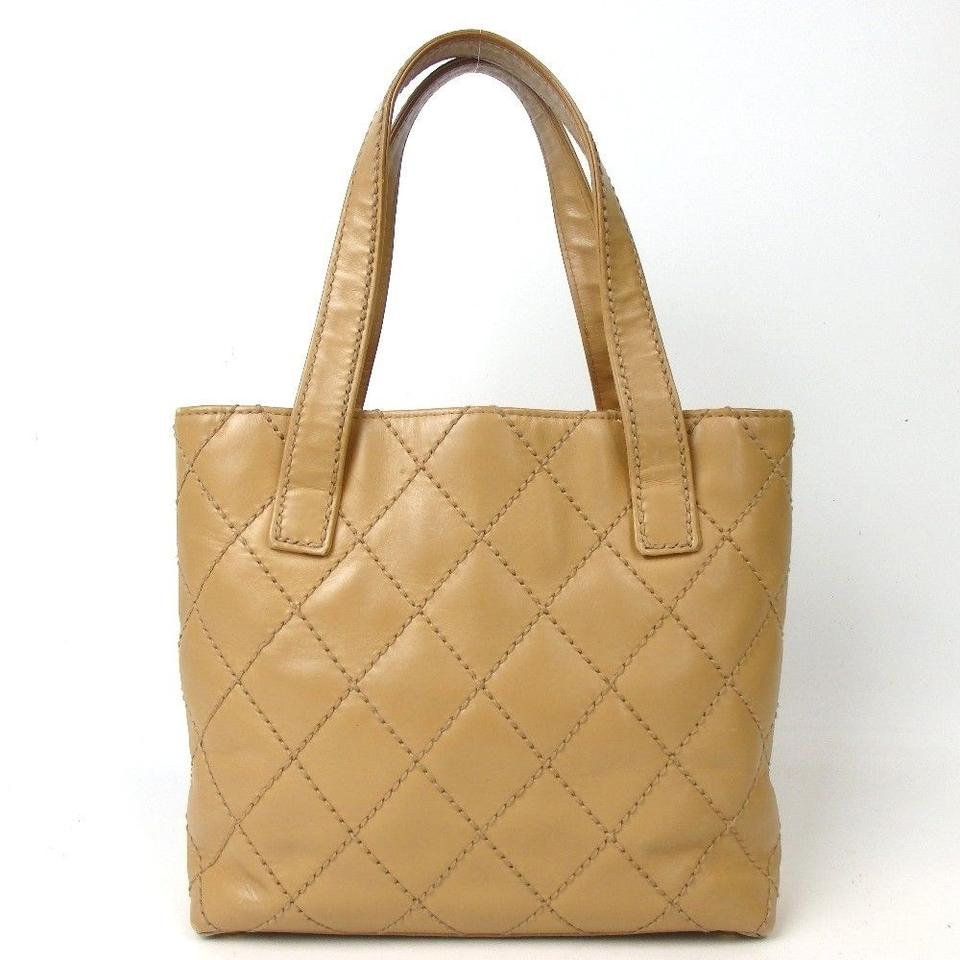 c1d1c1a54dae Chanel Wild Stitch Tote Handbag Camel Brown Leather Shoulder Bag - Tradesy