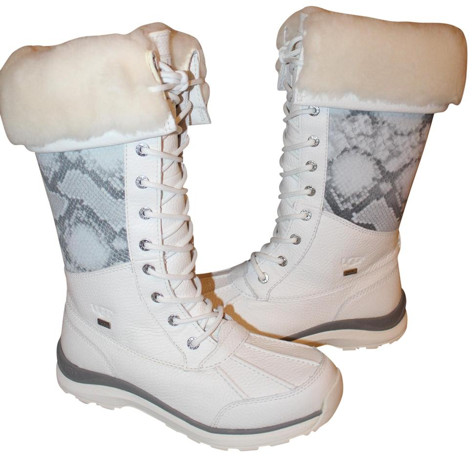 95ed69a9b83 UGG Australia White Adirondack Tall Leather Snow Boots/Booties Size US 9  Regular (M, B) 29% off retail