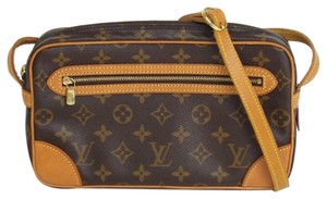 Louis Vuitton Canvas Saint Germain Front Flap Leather Shoulder Bag