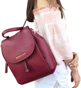 afc759ae1d55 Michael Kors Riley Drawstring New With Tag Backpack. Michael Kors Riley  Medium Mulberry Burgundy Leather Backpack