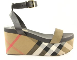 Burberry Nuneaton Signature Check Platfrom Multicolor Wedges