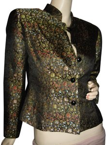 Chinese Factory Sample Brocade Unique Designer Raised Touch black,red,gold,turquoise Blazer