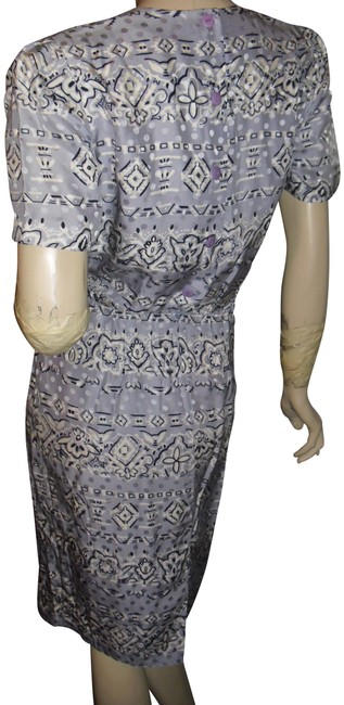 Item - Blues Wrap Tie Front Draped Pure Silk Unique Short Casual Dress Size 6 (S)