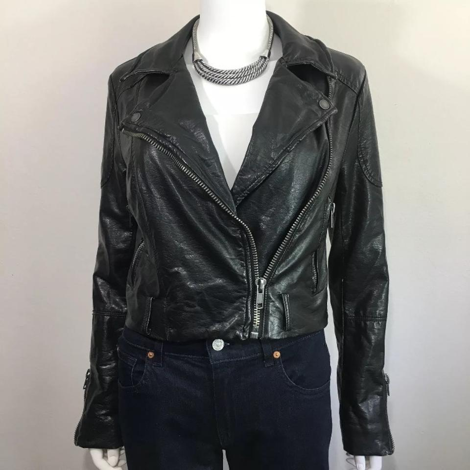 In Jacket Leather Faux Moto Free Motorcycle People Black Vegan nw4X8wWPZq