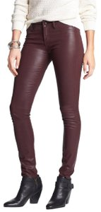 Articles of Society Coated Red Skinny Jeans-Coated