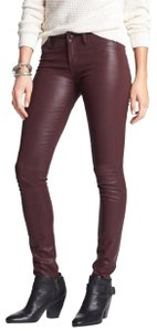 Articles of Society Red Coated Skinny Jeans-Coated