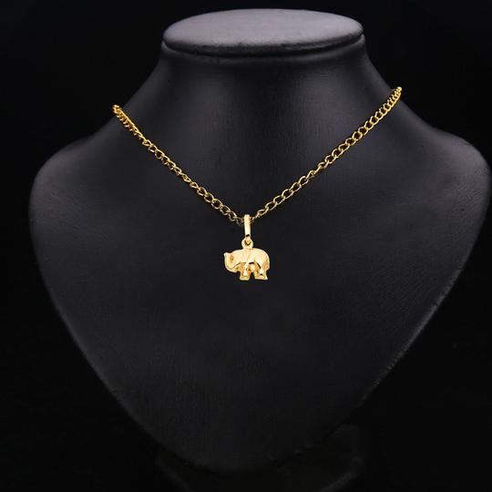 TD Collections 14K Yellow Gold Elephant Pendant Image 2