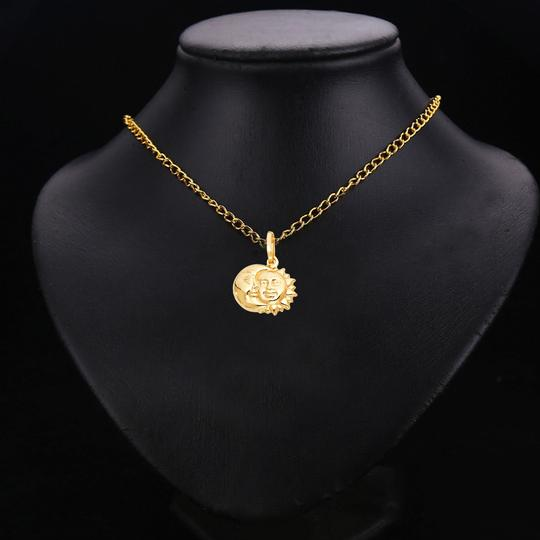 TD Collections 14K Yellow Gold Sun & Moon Pendant Image 2
