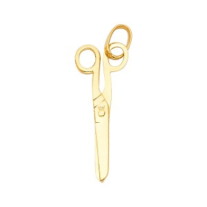 TD Collections 14K Yellow Gold Scissors Pendant