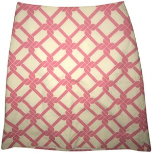 Milly of New York Preppy Summer Date Night Mini Skirt White and Pink