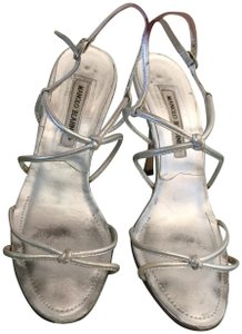 Manolo Blahnik Strappy Sandal silver Formal