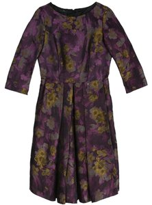 Carolina Herrera short dress Purple Floral on Tradesy