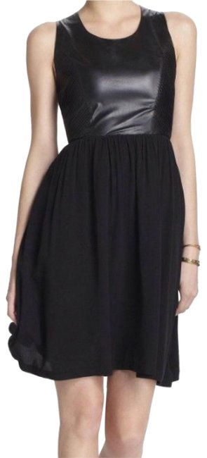 Preload https://img-static.tradesy.com/item/23872845/line-and-dot-black-leather-bodice-mid-length-night-out-dress-size-4-s-0-1-650-650.jpg