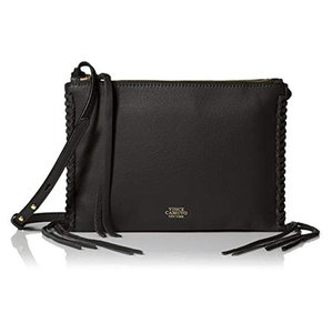 Vince Camuto Fringe Whipstitched Suede Leather Cross Body Bag