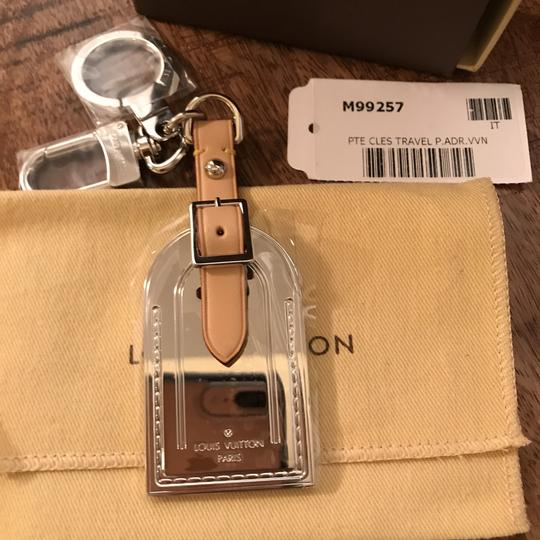 Louis Vuitton Rare Limited Edition Silver Metal Luggage Tag Key Holder Cles Image 1